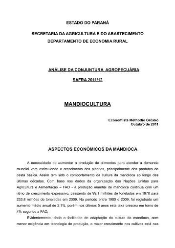MANDIOCULTURA - Secretaria da Agricultura e Abastecimento