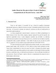 Análise Mensal dos Mercados de Raiz e Fécula de Mandioca e ...