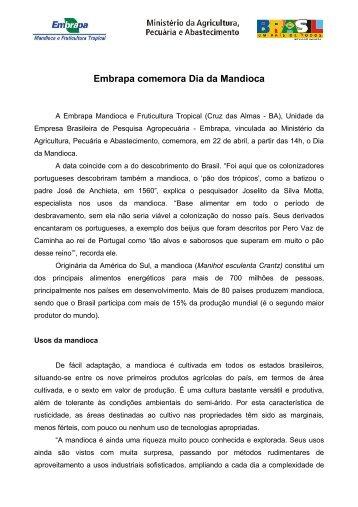 R10_dia mandioca.pdf - Embrapa Mandioca e Fruticultura