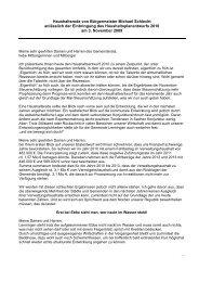 Haushaltsrede von Bürgermeister Michael Schlecht ... - Lenningen