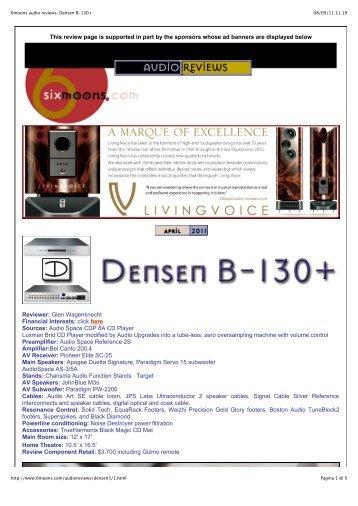 6moons audio reviews: Densen B-130+ - Perfect Audio