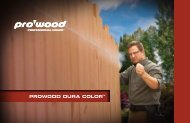 ProWood Dura Color Brochure (pdf - 858 KB) - ProWood Lumber