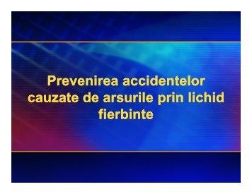 Prevenirea accidentelor cauzate de arsurile prin lichid fierbinte ...