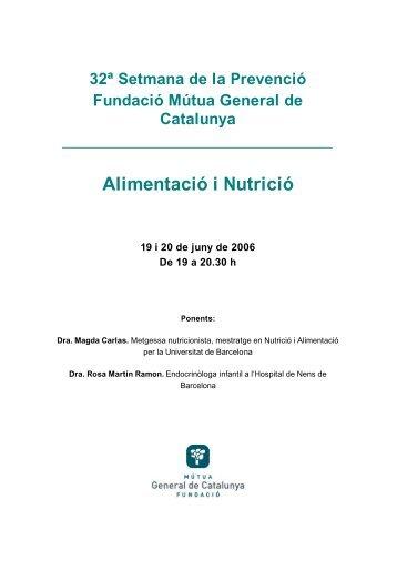 Alimentació i Nutrició - Mútua General de Catalunya