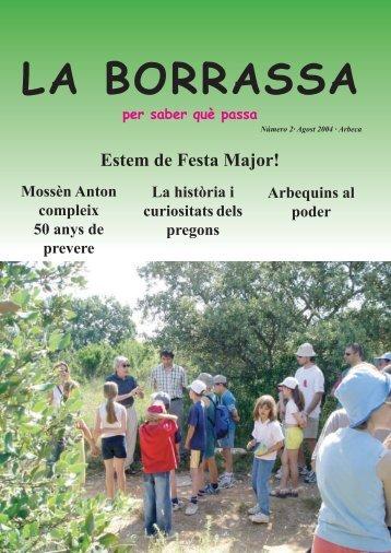 Agost 2004 - Ajuntament d'Arbeca
