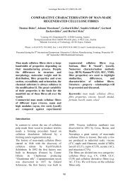 comparative characterisation of man-made regenerated ... - Lenzing