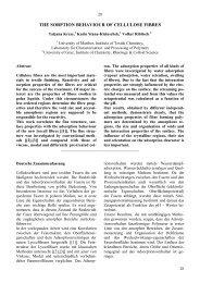 THE SORPTION BEHAVIOUR OF CELLULOSE FIBRES - Lenzing