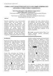 Correlation of regenerated fibres morphology and surface ... - Lenzing