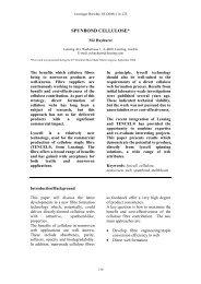 SPUNBOND CELLULOSE* - Lenzing