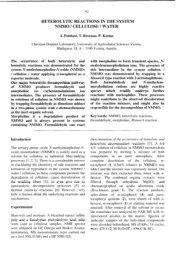 heterolytic reactions in the system nmmo / cellulose / water - Lenzing