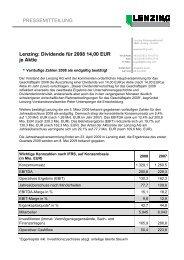 Pressemitteilung als PDF downloaden - Lenzing