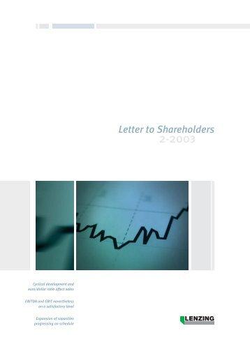 Quarterly Report 2/2003 - Lenzing