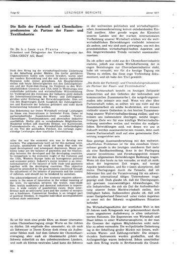 Die Rolle der Farbstoff- und Chemikalien- Produzenten ... - Lenzing