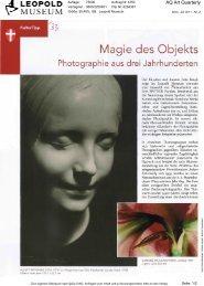 Magie des Objekts - Leopold Museum