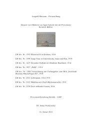 Dossier: Egon Schiele, 8 Blätter mit der Provenienz Heinrich Böhler
