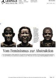 Vom Feminismus zur Abstraktion - Leopold Museum