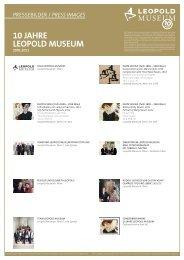 10 Jahre Pressebilder.indd - Leopold Museum