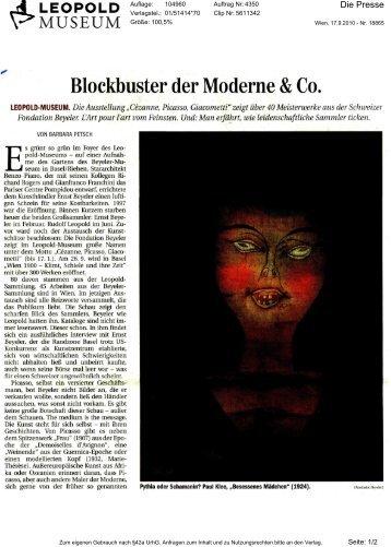 Blockbuster der Moderne & Co. - Leopold Museum
