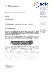 Jahreshauptversammlung 2010 - ADFC - Osterholz