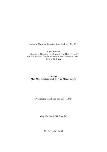 Dossier Max Morgenstern und Hertha Morgenstern