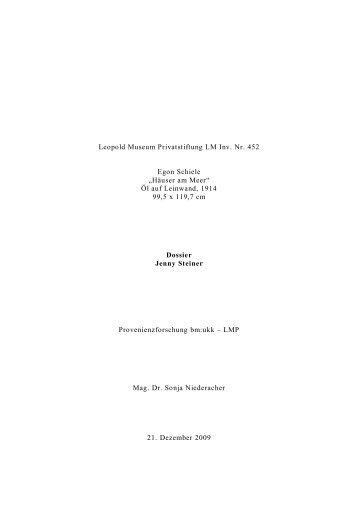 Dossier Jenny Steiner - Bundesministerium für Unterricht, Kunst und ...
