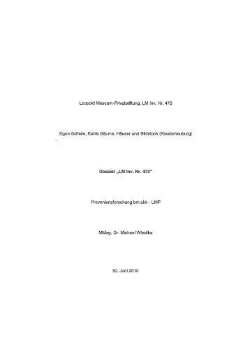 Egon Schiele, Kahle Bäume, Häuser und Bildstock (Klosterneuburg).