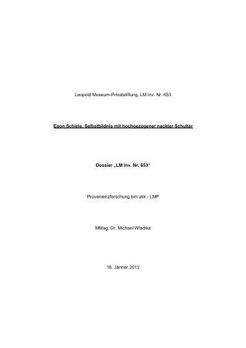 Egon Schiele, Selbstbildnis mit hochgezogener nackter Schulter