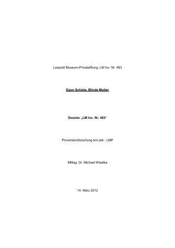 Egon Schiele, Blinde Mutter - Bundesministerium für Unterricht ...