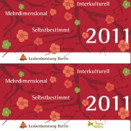 LB Programm 2011 - Lesbenberatung Berlin