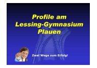 Profile am Lessing-Gymnasium Plauen