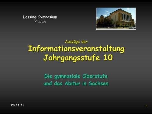 Oberstufenberatung für die Jgst. 11 im Schuljahr 2013/2014