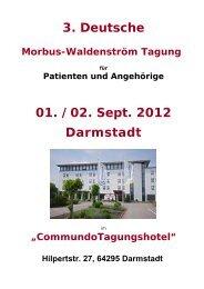 3. Deutsche 01. /02. Sept. 2012 Darmstadt