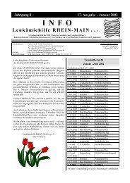 Januar 2002 INFO - Leukämiehilfe Rhein-Main 17. Ausgabe (PDF)