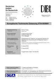 Europäische Technische Zulassung ETA-05/0081 - Treppenmeister