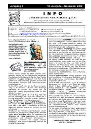 November 2002 INFO - Leukämiehilfe Rhein-Main 18. Ausgabe (PDF)