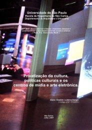Privatização da cultura, políticas culturais e os ... - Nomads.usp