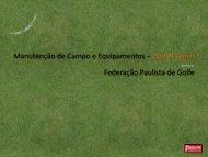 Manutenção de Campo e Equipamentos - Federação Paulista de ...