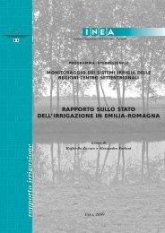 Rapporto sullo stato dell'irrigazione in Emilia-Romagna - Inea