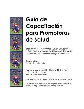 Guía de Capacitación para Promotoras de Salud - Our Bodies ...