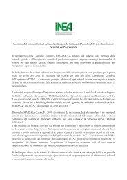 La stima dei consumi irrigui delle aziende agricole italiane ... - Inea
