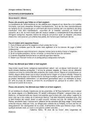 Llengua catalana i literatura IES Mossèn Alcover ACTIVITATS D ...