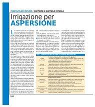 Irrigazione per ASPERSIONE ( PDF - 248 kb ) - Ermes Agricoltura