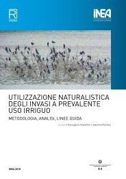utilizzazione naturalistica degli invasi a prevalente uso irriguo - Inea
