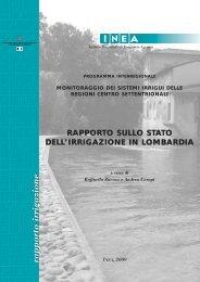 Rapporto sullo stato di irrigazione in Lombardia - Inea