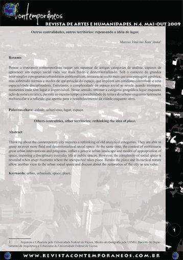 Outras centralidades, outros territórios - Revista Contemporâneos