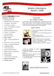 Boletim Informativo Agosto / 2008 - Associação dos Empregados do ...