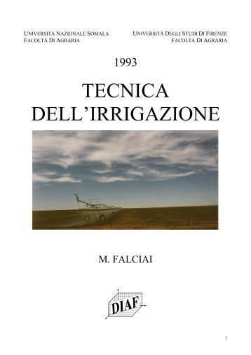 La capriata palladiana 1 for Tecniche di irrigazione