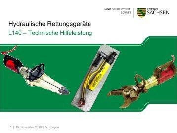Präsentation Hydraulische Rettungsgeräte [Download,*.pdf, 1,64 MB]