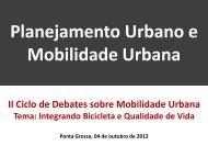 Planejamento Urbano e Mobilidade Urbana - Bicicletada