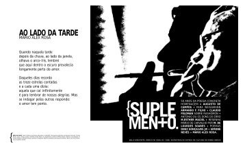 ao lado da tarde - Secretaria de Estado de Cultura de Minas Gerais